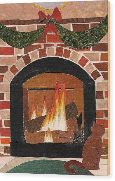 Enjoying The Warmth Wood Print