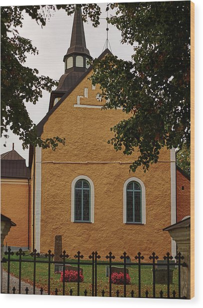 enkoepingsnaes church from east Db Wood Print