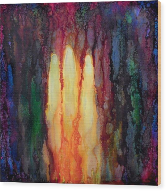 Enlightened Trinity  Wood Print