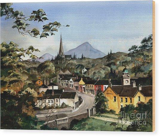 Enniskerry Panorama Wicklow Wood Print