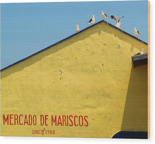 Ensenada Harbour Fish Market 33 Wood Print