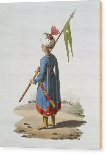 Ensign Bearer Of The Spahis, 1818 Wood Print