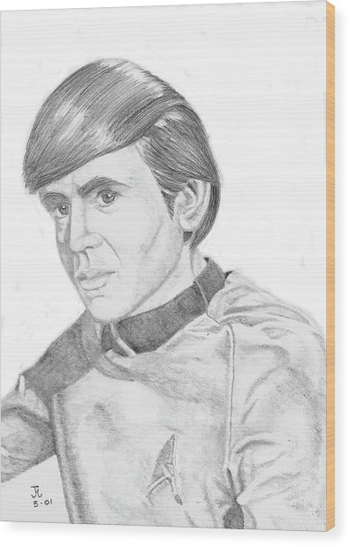 Ensign Pavel Chekov Wood Print