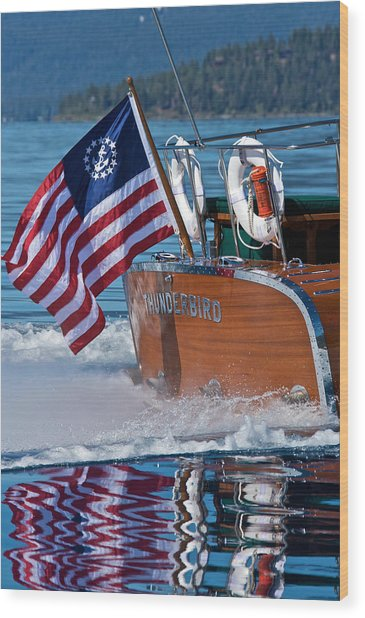 How Proud - Flag Day Wood Print