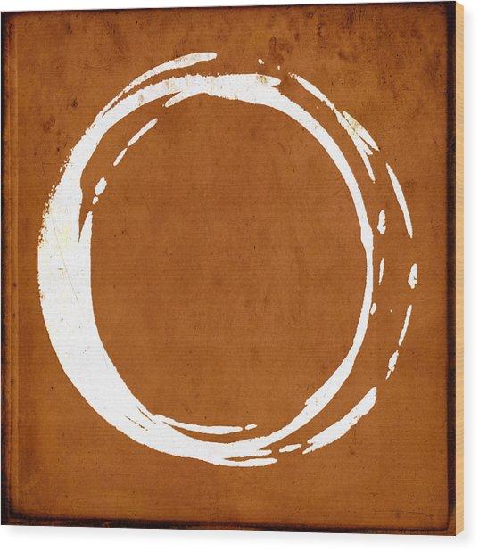 Enso No. 107 Orange Wood Print