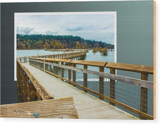 Landscape - Boardwalk - Enter Here Wood Print