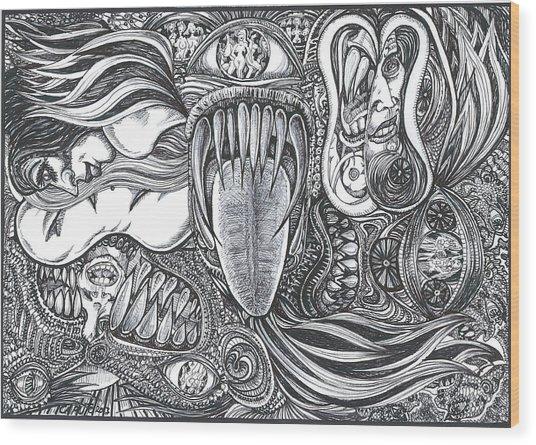 Enter My World Wood Print