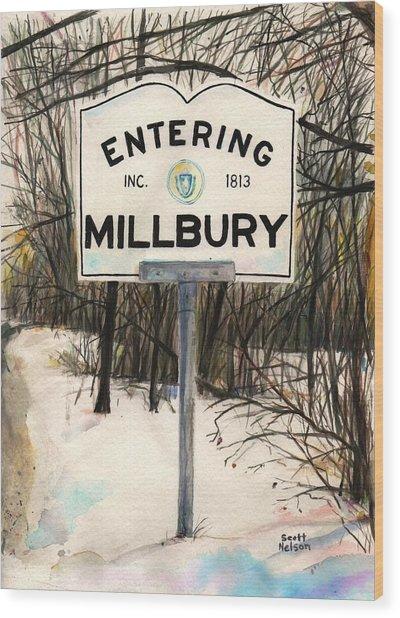Entering Millbury Wood Print by Scott Nelson