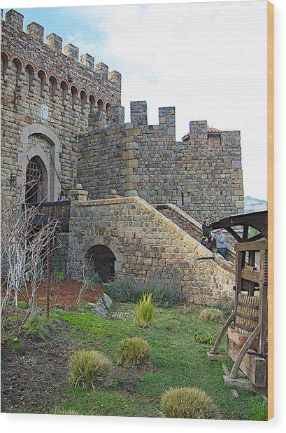 Entrance To Castello Di Amorosa In Napa Valley-ca Wood Print