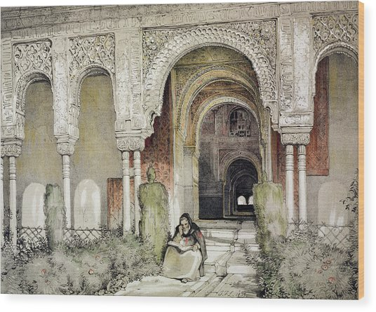 Entrance To The Hall Of The Two Sisters Wood Print