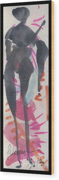 Entwined Figure Series No. 6  Your Back To The Drama Wood Print by Cathy Peterson