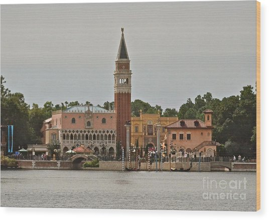 Epcot Italy Pavilion Wood Print
