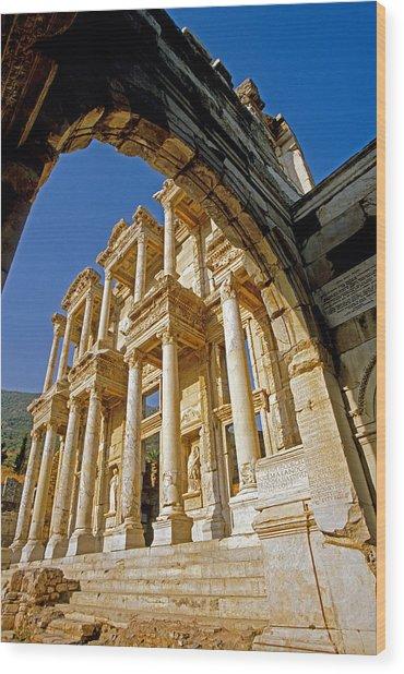 Ephesus Library 2 Wood Print