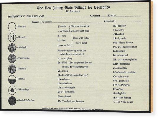 Epilepsy Heredity Research Wood Print