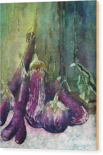 Epplant Or Aubergine Wood Print