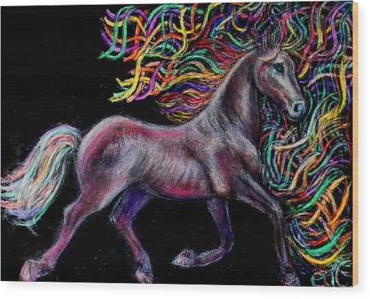Equestrian Canter Wood Print by Elizabeth Clausen