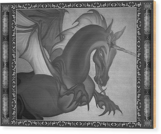 Equus Draco Unicornis Wood Print