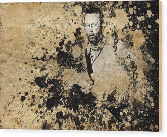 Eric Clapton 3 Wood Print