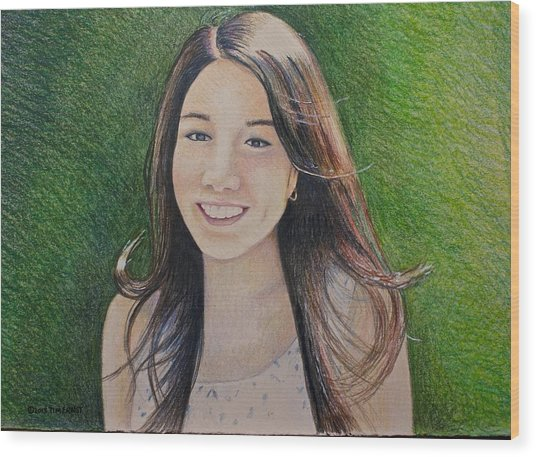 Erika's Portrait Wood Print