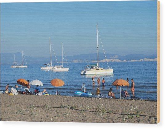 Erikousa Beach One Wood Print