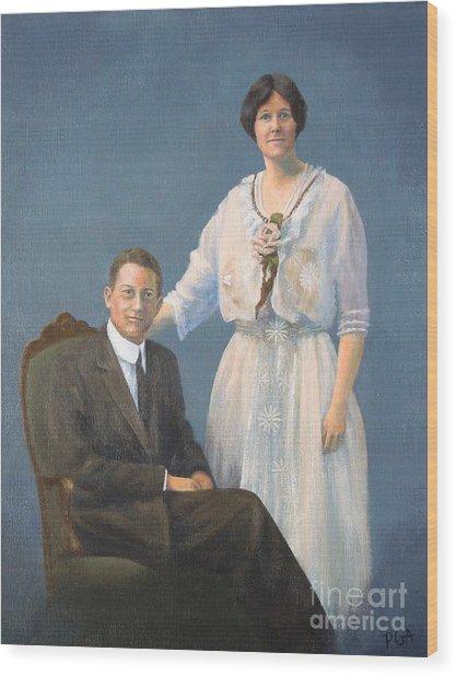 Ernest And Helen Barnes Wood Print