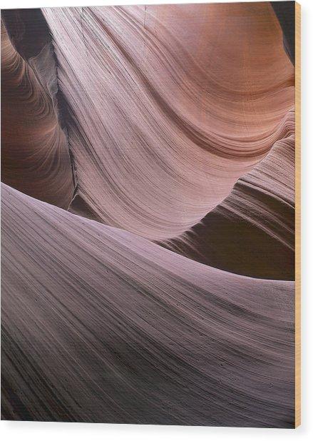 Erosion Trails Wood Print