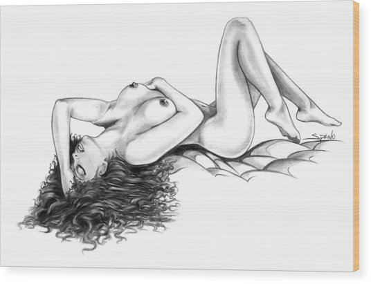Erotic Dreams By Spano Wood Print