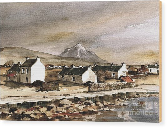 Errigal From Gola Island Donegal Wood Print