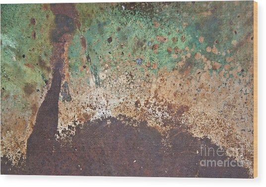 Eruption Volcanic Abstract Wood Print