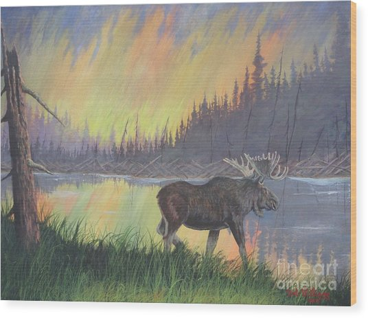Escaping The Yellowstone Fires Wood Print
