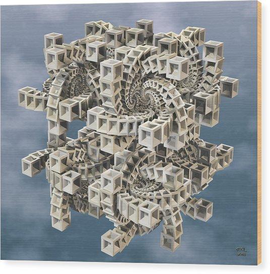 Escher's Construct Wood Print