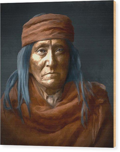 Eskadi - Apache Wood Print