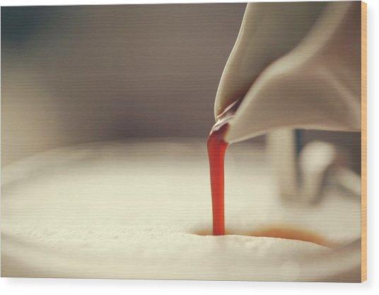 Espresso And Milk Foam Wood Print by Susan.k.