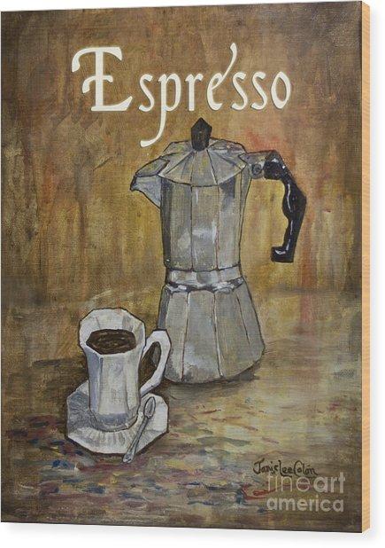 Espresso Wood Print
