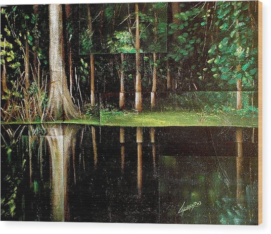 Essake Wood Print by Laurend Doumba