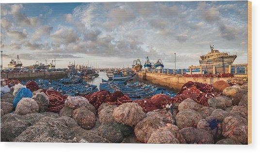 Essaouira Harbour Wood Print by Michael Avory