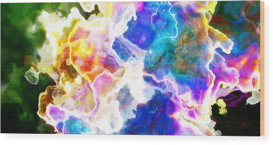 Wood Print featuring the mixed media Essence - Abstract Art by Jaison Cianelli
