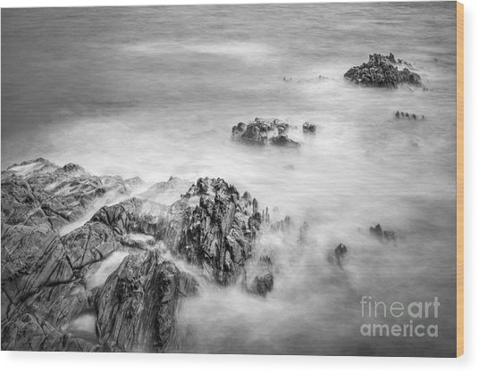 Estacas Beach Galicia Spain Wood Print
