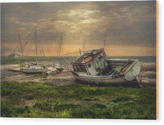 Estuary Evening Wood Print