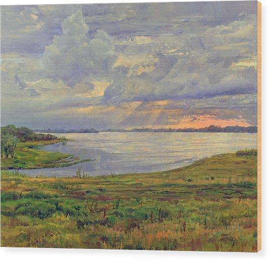 Estuary Polovinka Wood Print