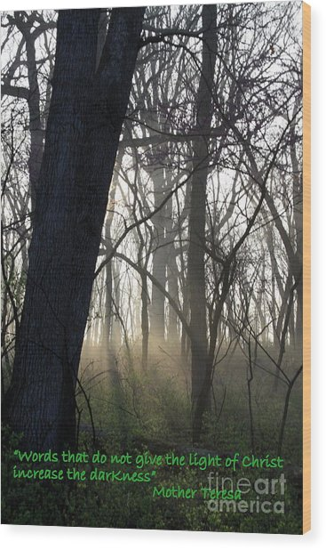 Eternal Light Wood Print by Rick Rauzi