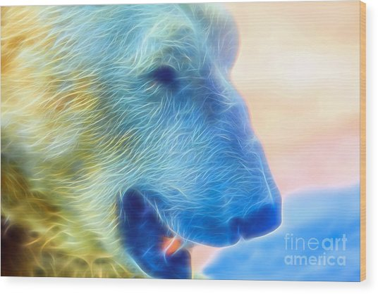 Ethereal Bear Wood Print