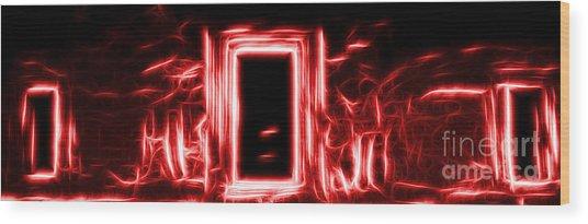 Ethereal Doorways Red Wood Print