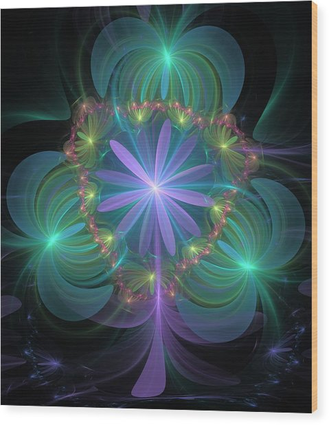 Ethereal Flower On Vacation Wood Print