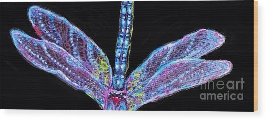 Ethereal Wings Of Blue Wood Print
