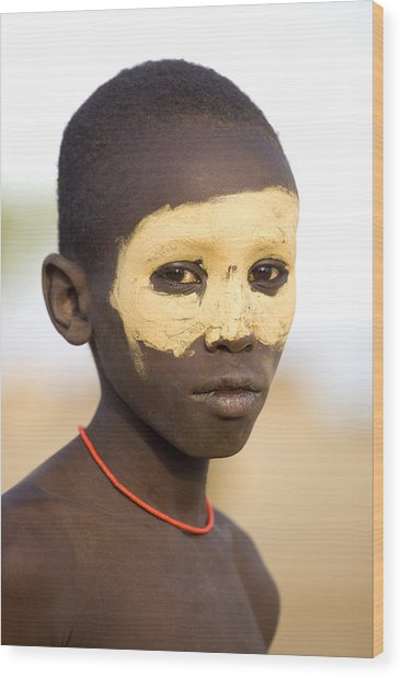 Ethiopia Boy Wood Print