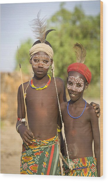 Ethiopia Boys Wood Print