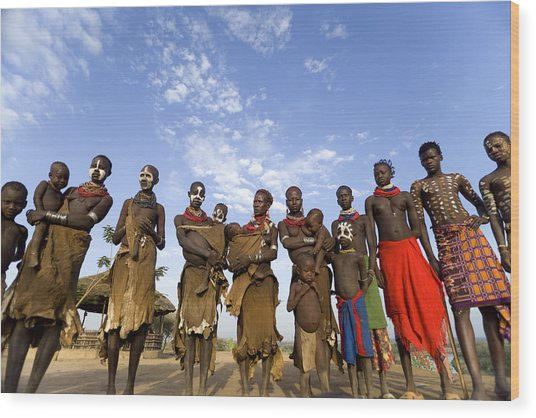 Ethiopia Groups Wood Print