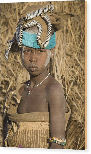 Ethiopia Tribe Wood Print