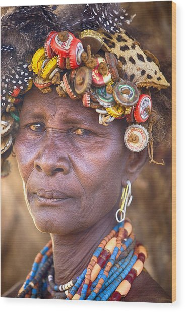 Ethiopia Women Wood Print